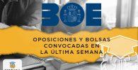 Oposiciones y bolsas de trabajo convocadas en la última semana en España