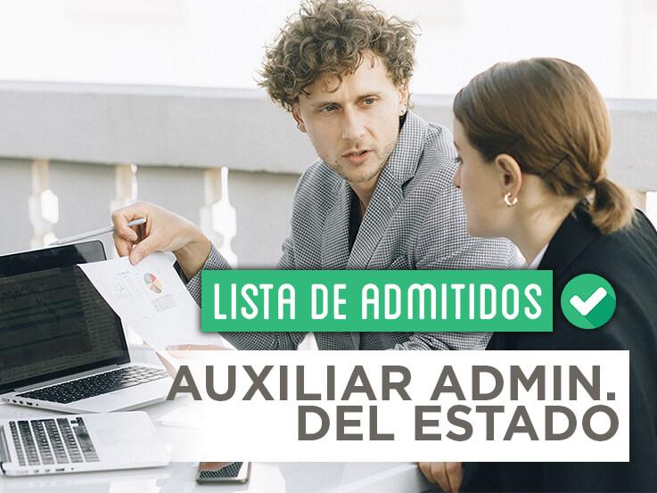 Consulta la lista de admitidos de las oposiciones de Auxiliar Administrativo del Estado