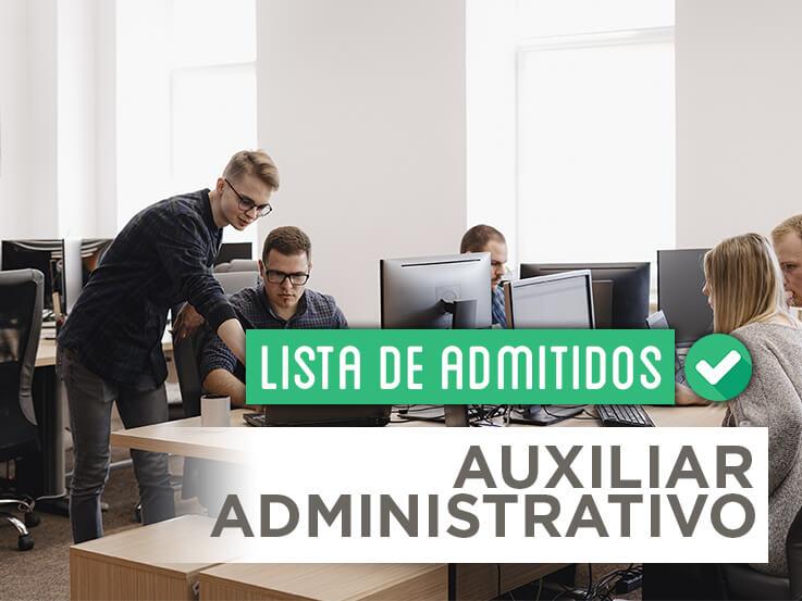 Consulta la lista de admitidos de las oposiciones de Auxiliar Administrativo